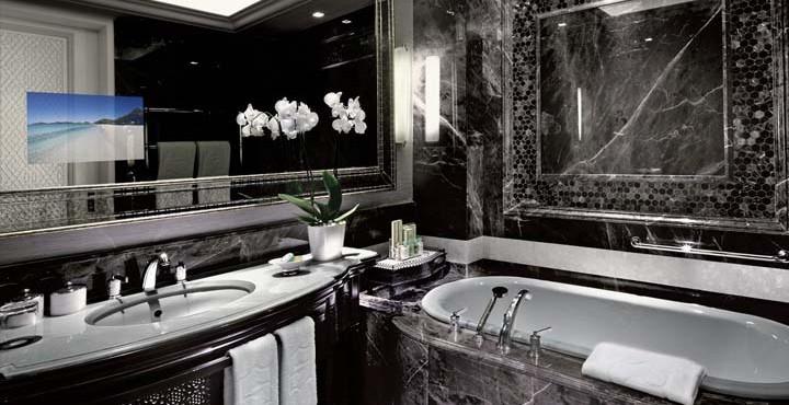 An incredible upgraded bathroom.
